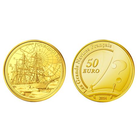 50 euro France 2014 or BE - Le Pourquoi Pas (visuel supplémentaire)