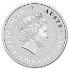 1 dollar Australie 2014 1 once argent - Crocodile marin Avers