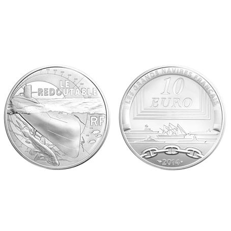 10 euro France 2014 argent BE - Le Redoutable (visuel supplémentaire)