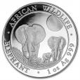 100 Shillings Somalie 2014 1 once argent - Eléphant Revers