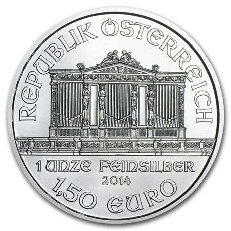 1,50 euro Autriche 2014 1 once argent - Philharmonique Avers