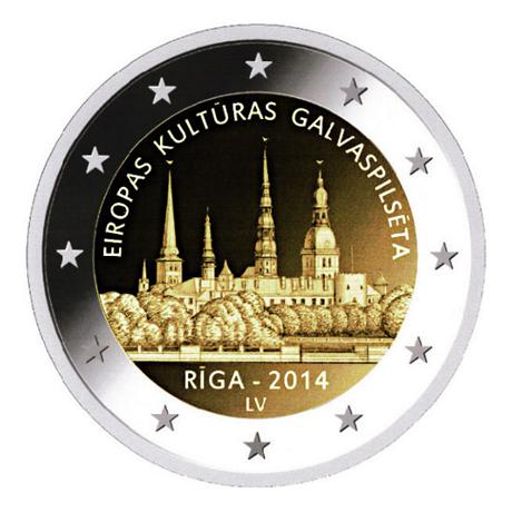 2 euro commémorative Lettonie 2014 - Riga