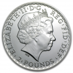 2 pounds Royaume-Uni 2014 1 once argent - Britannia Avers