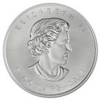 5 dollars Canada 2014 1 once argent - Feuille d'érable Avers