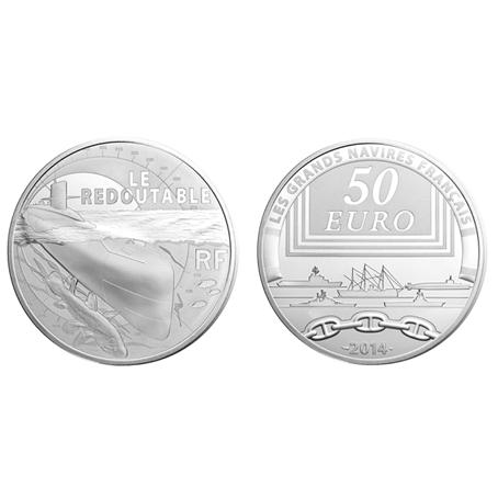 50 euro France 2014 argent BE - Le Redoutable (visuel supplémentaire)