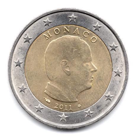 (EUR12.200.2011.0.000000076) 2 euro Monaco 2011 Avers