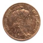 (FMO.005.1916.7.25.000000001) 5 centimes Dupuis 1916 (étoile) Avers