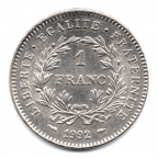 (FMO.1.1992.30.1.000000004) 1 Franc République 1992 Revers