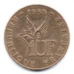 (FMO.10.1988.13.2.000000001) 10 Francs Roland GARROS 1988 Revers