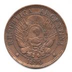 (W014.002.1890.1.1.000000001) 2 Centavos Liberté 1890 Avers