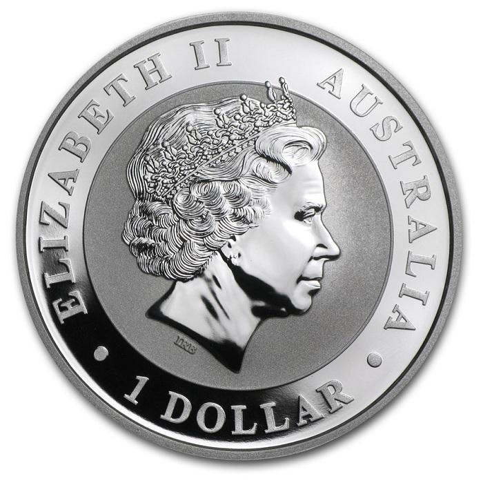 (W017.100.2014.1.oz.Ag.1) 1 Dollar Australia 2014 1 oz BU Ag - Australian Koala Obverse (zoom)