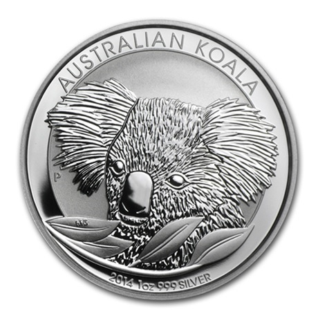 (W017.100.2014.1.oz.Ag.1) 1 Dollar Australie 2014 1 once argent BU - Koala Revers