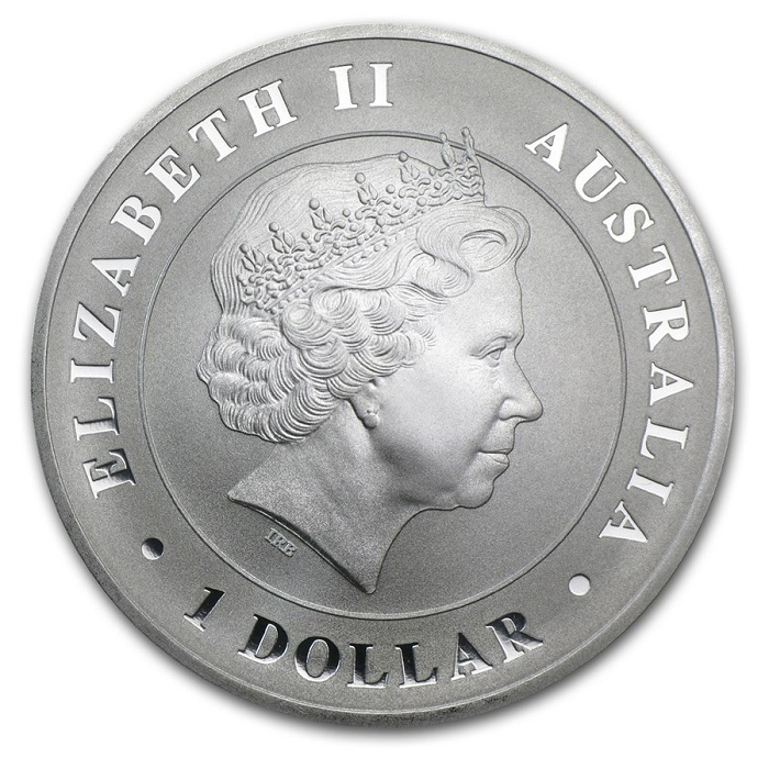 (W017.100.2014.1.oz.Ag.3) 1 Dollar Australia 2014 1 oz BU silver - Saltwater crocodile Obverse (zoom)