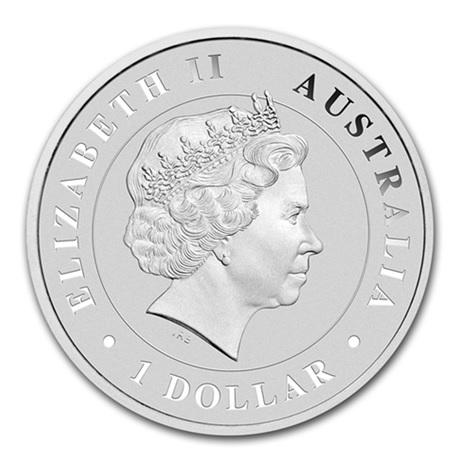 (W017.100.2014.1.oz.Ag.3) 1 Dollar Australie 2014 1 once argent BU - Crocodile marin Avers