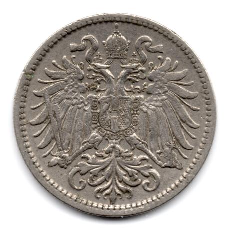 (W018.0010.1907.1.1.000000001) 10 Heller Aigle héraldique bicéphale 1907 Avers