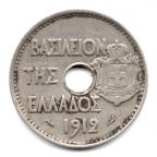 (W081.020.1912.1.1.000000001) 20 Lepta Athéna debout 1912 Avers