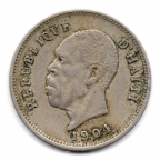 (W089.005.1904.1.1.000000001) 5 Centimes Nord Alexis 1904 Avers