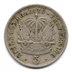 (W089.005.1904.1.1.000000001) 5 Centimes Nord Alexis 1904 Revers