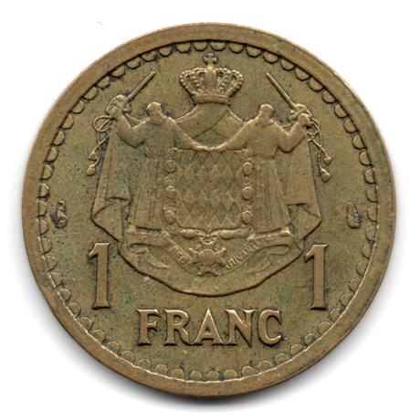 (W150.100.1945.1.2.000000002) 1 Franc Louis II 1945 Revers