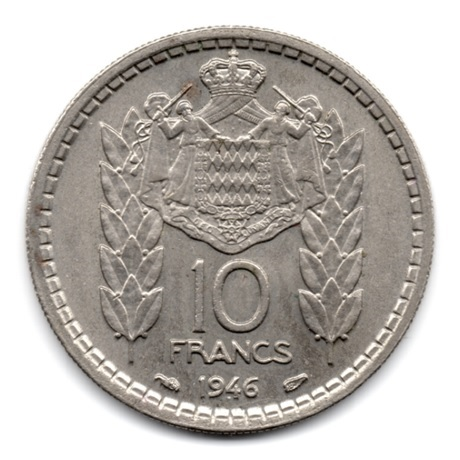 (W150.1000.1946.1.2.000000001) 10 Francs Louis II 1946 Revers