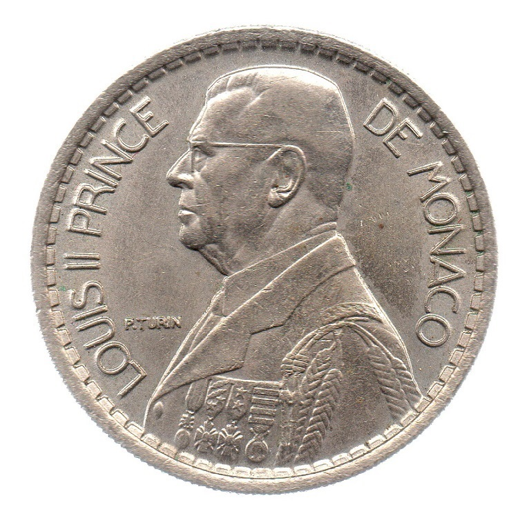 (W150.1000.1946.1.2.000000001) 10 Francs Prince Louis II 1946 Obverse (zoom)