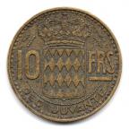 (W150.1000.1951.1.4.000000001) 10 Francs Rainier III 1951 Revers