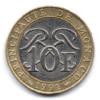 (W150.1000.1991.1.11.000000001) 10 Francs Sceau des Grimaldi 1991 Revers