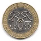 (W150.1000.1997.1.12.000000001) 10 Francs Sceau des Grimaldi 1997 Revers