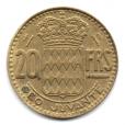 (W150.2000.1951.1.2.000000001) 20 Francs Rainier III 1951 Revers