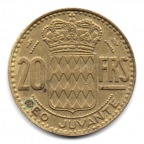 (W150.2000.1951.1.2.000000001) 20 Francs Rainier III 1951 Revers