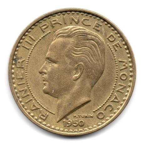 (W150.5000.1950.1.1.000000001) 50 Francs Rainier III 1950 Avers
