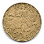 (W150.5000.1950.1.1.000000001) 50 Francs Rainier III 1950 Revers