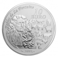 10 euro France 2015 Proof silver - Year of the Goat Reverse