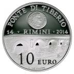 10 euro Saint-Marin 2014 argent BE - Pont Tibère Revers