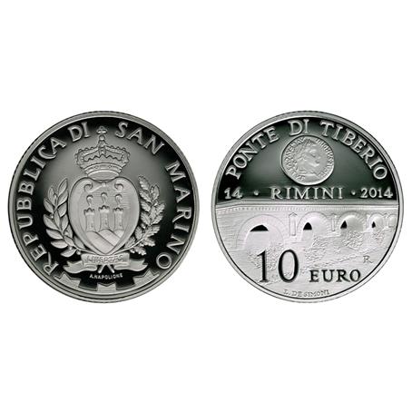 10 euro Saint-Marin 2014 argent BE - Pont Tibère (visuel complémentaire)