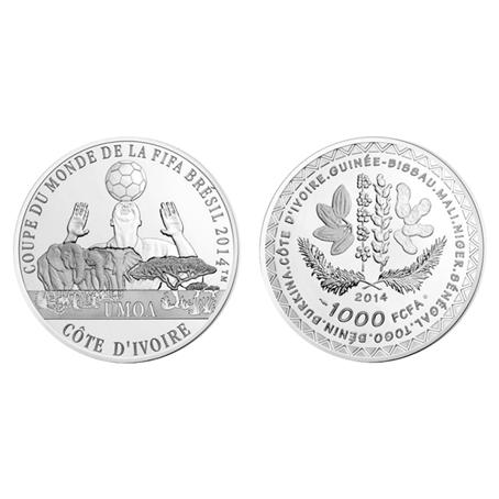 1000 Francs CFA Coupe du monde de football 2014 - Argent BE (visuel supplémentaire)