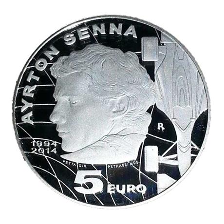 5 euro Saint-Marin 2014 argent BE - Ayrton Senna Revers