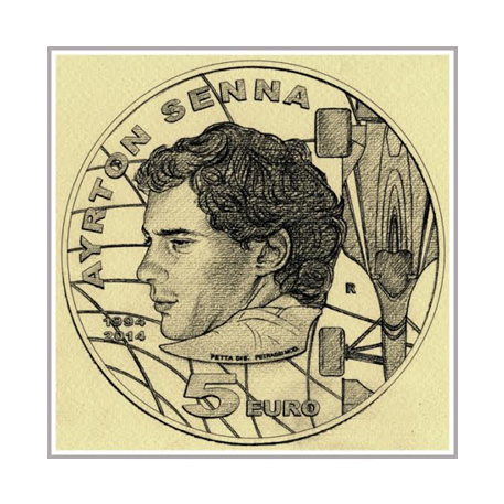 5 euro Saint-Marin 2014 argent BE - Ayrton Senna (visuel supplémentaire)