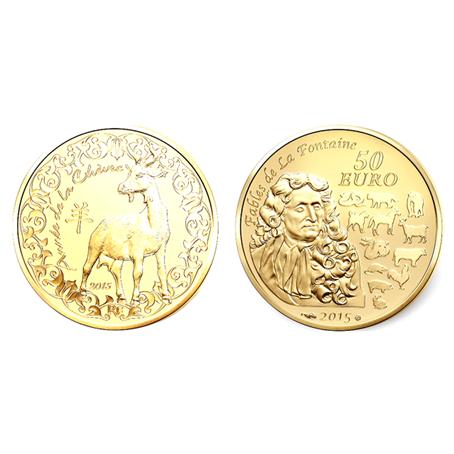 50 euro France 2015 or BE - Année de la Chèvre (visuel supplémentaire)