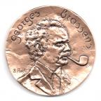 (FMED.Méd.MdP.CuSn56.000000002) Médaille bronze - Georges Brassens Avers
