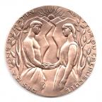 (FMED.Méd.MdP.CuSn97.000000002) Médaille bronze - Mariage, par Thurotte Avers