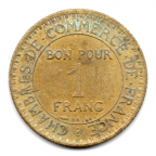 (FMO.1.1921.19.2.000000001) 1 Franc Chambres de commerce 1921 Revers