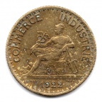 (FMO.1.1922.19.3.000000001) 1 Franc Chambres de commerce 1922 Avers