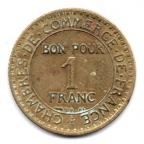 (FMO.1.1923.19.4.000000001) 1 Franc Chambres de commerce 1923 Revers