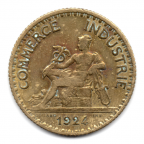 (FMO.1.1924.19.5.000000001) 1 Franc Chambres de commerce 1924 Avers