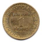 (FMO.1.1924.19.5.000000001) 1 Franc Chambres de commerce 1924 Revers