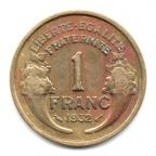 (FMO.1.1932.20.2.000000001) 1 Franc Morlon 1932 Revers
