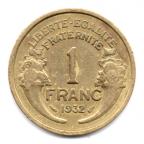 (FMO.1.1932.20.2.000000003) 1 Franc Morlon 1932 Revers
