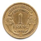 (FMO.1.1938.20.8.000000001) 1 Franc Morlon 1938 Revers