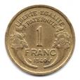 (FMO.1.1940.20.10.000000001) 1 Franc Morlon 1940 Revers